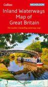 Inland Waterways Map of Great Britain Nicholson Guide
