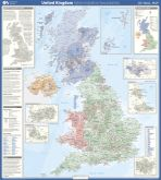7 United Kingdom Admin Boundaries Wall Map