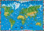 Illustrated Childrens World Map