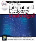 Websters Third New International Dictionary CD-Rom
