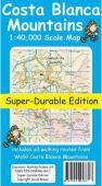 Tour & Trail Map - Costa Blanca Mountains (Super-Durable)