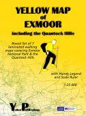 Boxed set: Yellow Map of Exmoor - 7 maps 1:25000